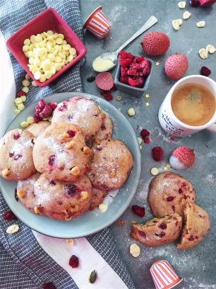 cookies chocolat blanc / framboises