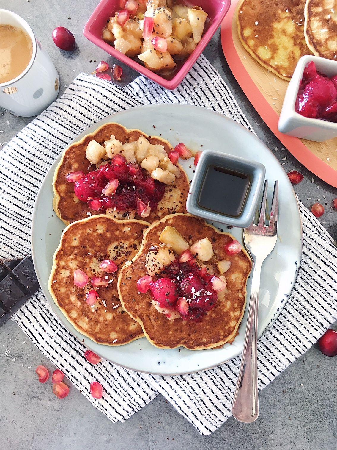 Pancakes sans gluten et sans lactose, indice glycémique bas